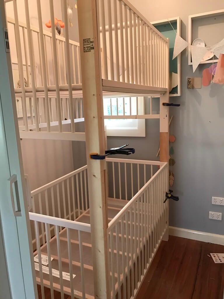 DIY a crib bunk bed