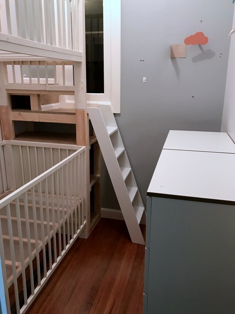 A ladder for the GULLIVER crib bunk bed