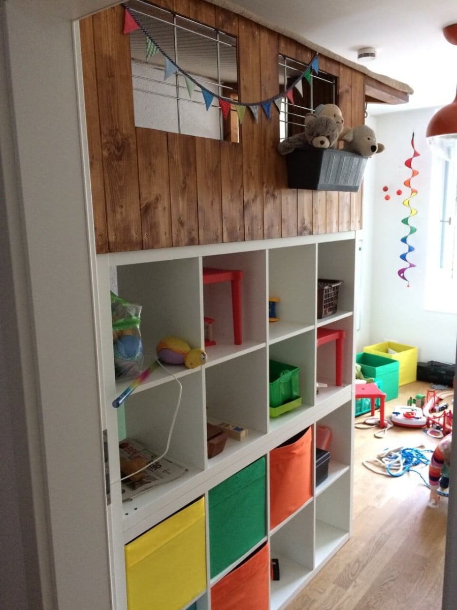 kallax wooden playhouse kids adventure castle ikea hackers ikea hackers. Black Bedroom Furniture Sets. Home Design Ideas