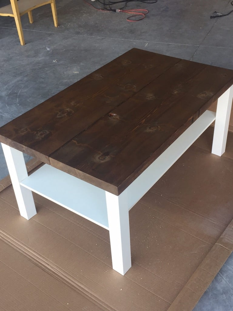 Hackin The Lack Into A Rustic Coffee Table Ikea Hackers