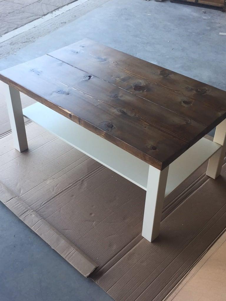 IKEA LACK rustic coffee table diy
