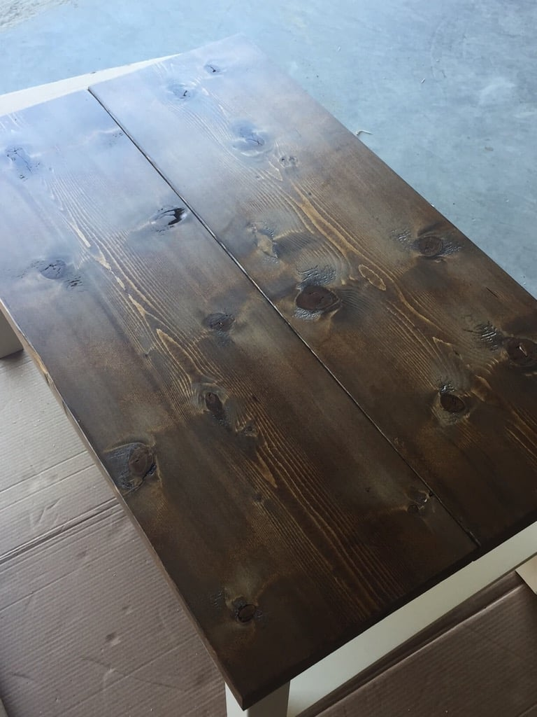 IKEA LACK rustic coffee table diy