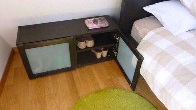 bedside shoe rack