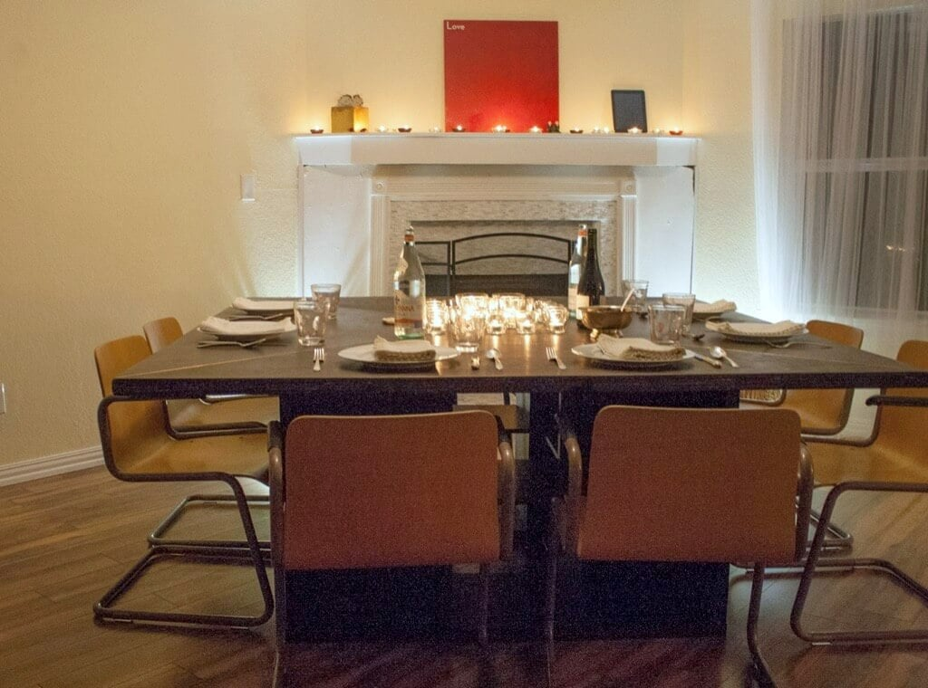 Hack a Massive Expedit Square Dining Table