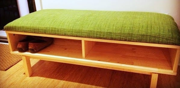 ikea shoe bench hack