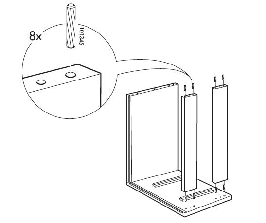 Mid-Century Modern Furniture Shelving DIY - Step 3