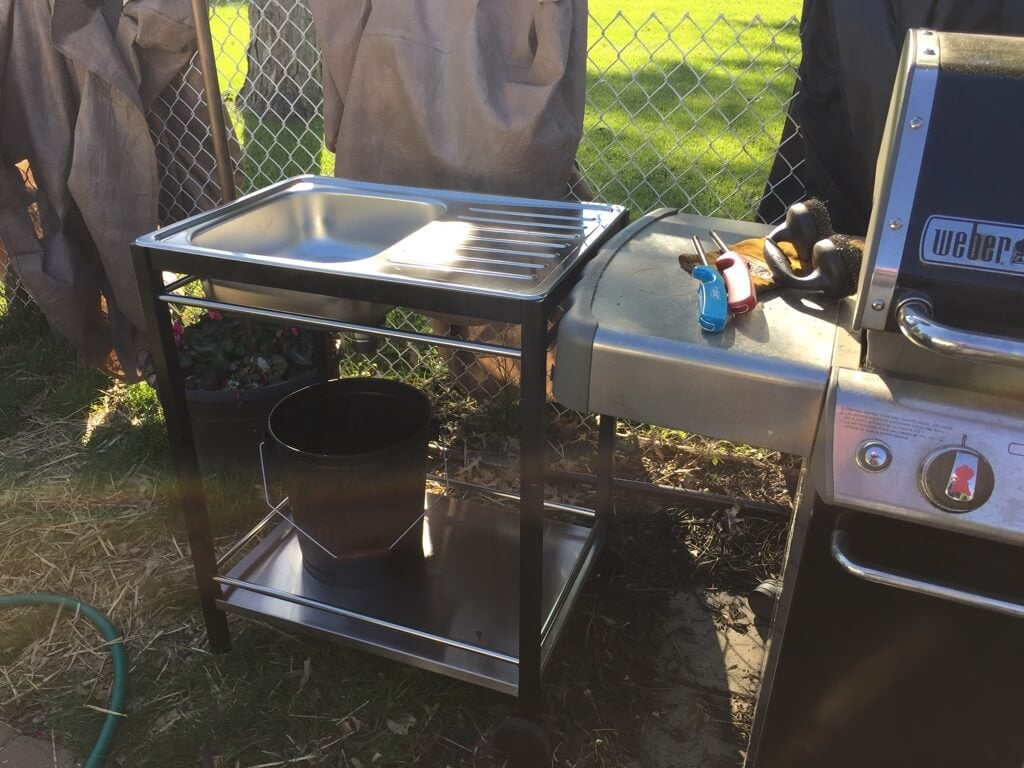 Outdoor sink a perfect summer project ikea hackers - Ikea outdoor mobel ...