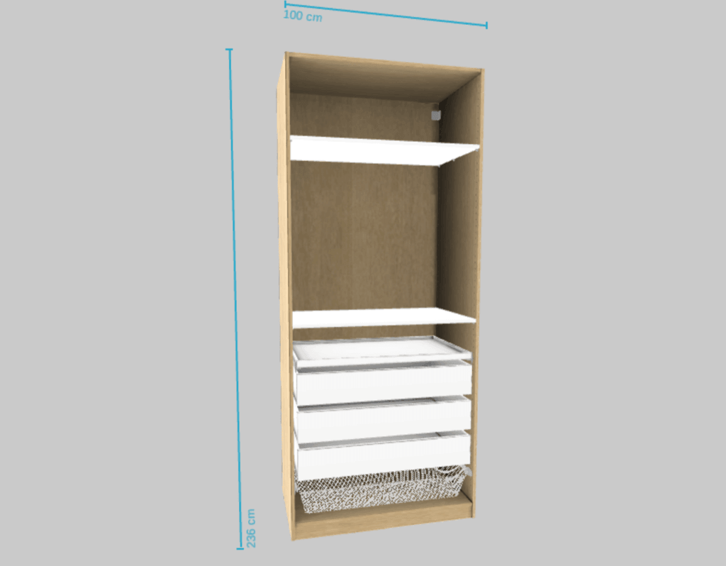 IKEA Pax plan for synth workstation