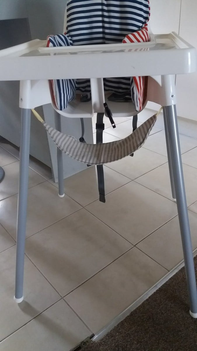 DIY foot rest on IKEA Antilop high chair