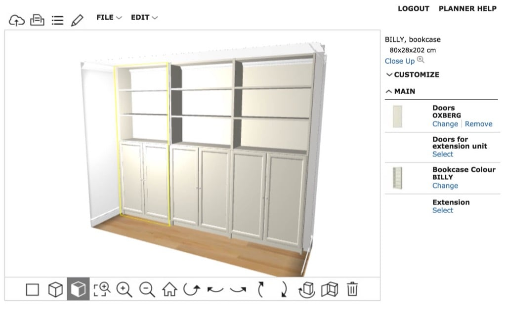 hackers help how to ikea hack this recessed area ikea. Black Bedroom Furniture Sets. Home Design Ideas