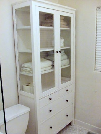 HEMNES glass pharmacy cabinet