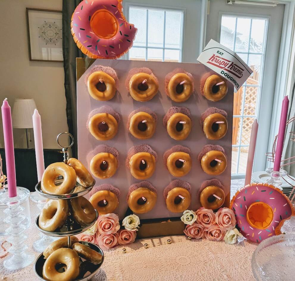 DIY Donut Bar Stand from IKEA Lack table