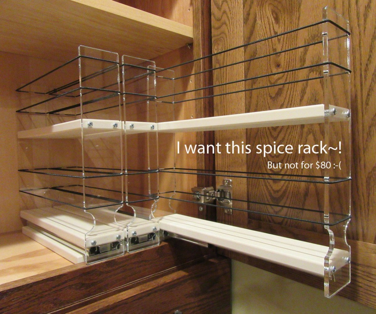 Vertical Spice Pull-Out Spice Rack