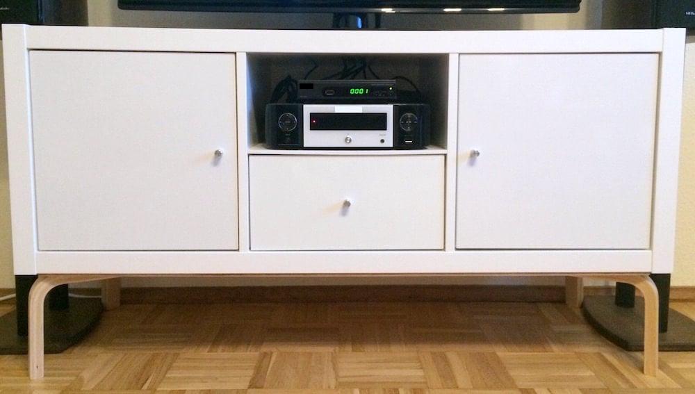 modern KALLAX TV stand
