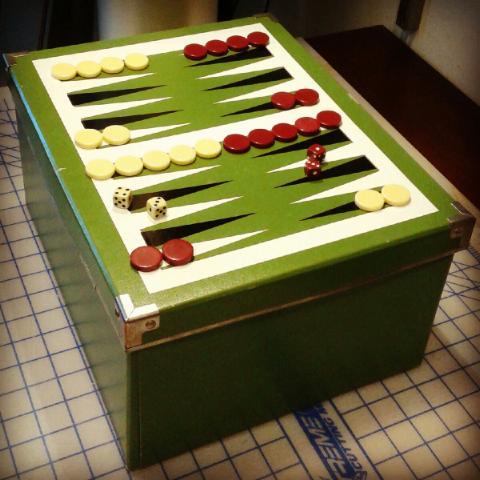 Backgammon storage box IKEA hack