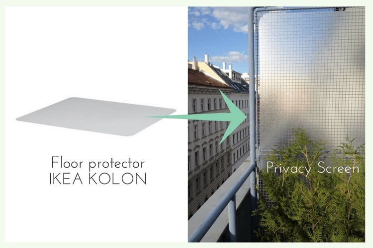 Floor Protector For Balcony Privacy Ikea Hackers Ikea