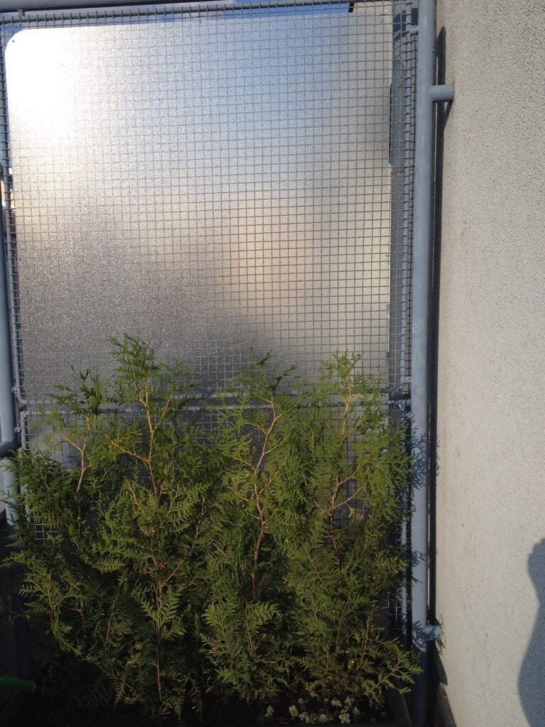 balcony privacy screen IKEA hack