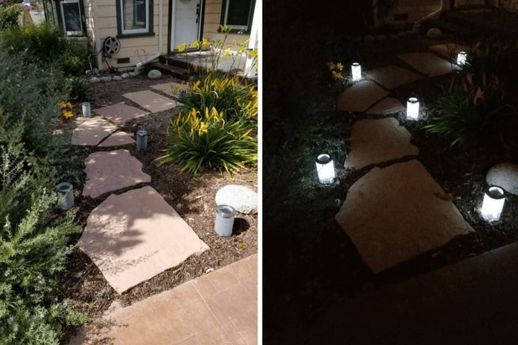 Modern Solar Pathway Lights From Droppar Jars Ikea