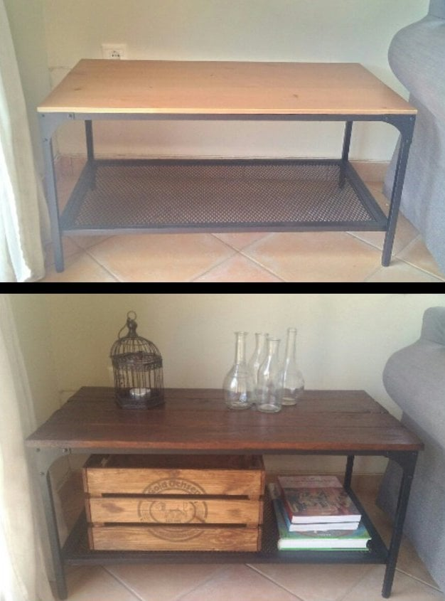 wooden pallet coffee table DIY