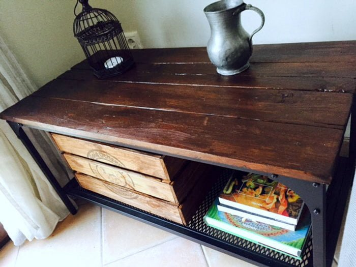 Pallet Wood Tv Unit