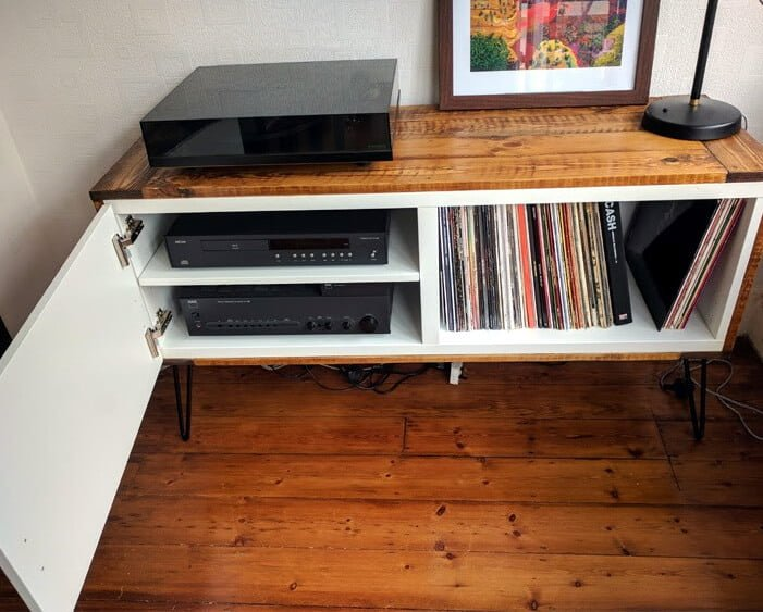 record player stand ikea Record player stand from IKEA BESTÅ and pallet wood   IKEA Hackers record player stand ikea