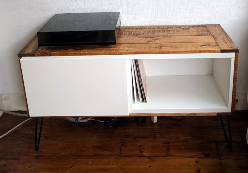Got best covered a record player stand ikea hackers - Mobile hi fi ikea ...