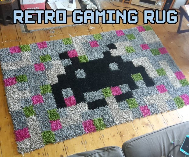 Pixel Art Retro Games Rug: A Hampen Hack
