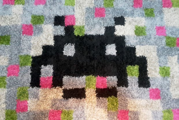 Pixel Art Retro Games Rug IKEA HACK