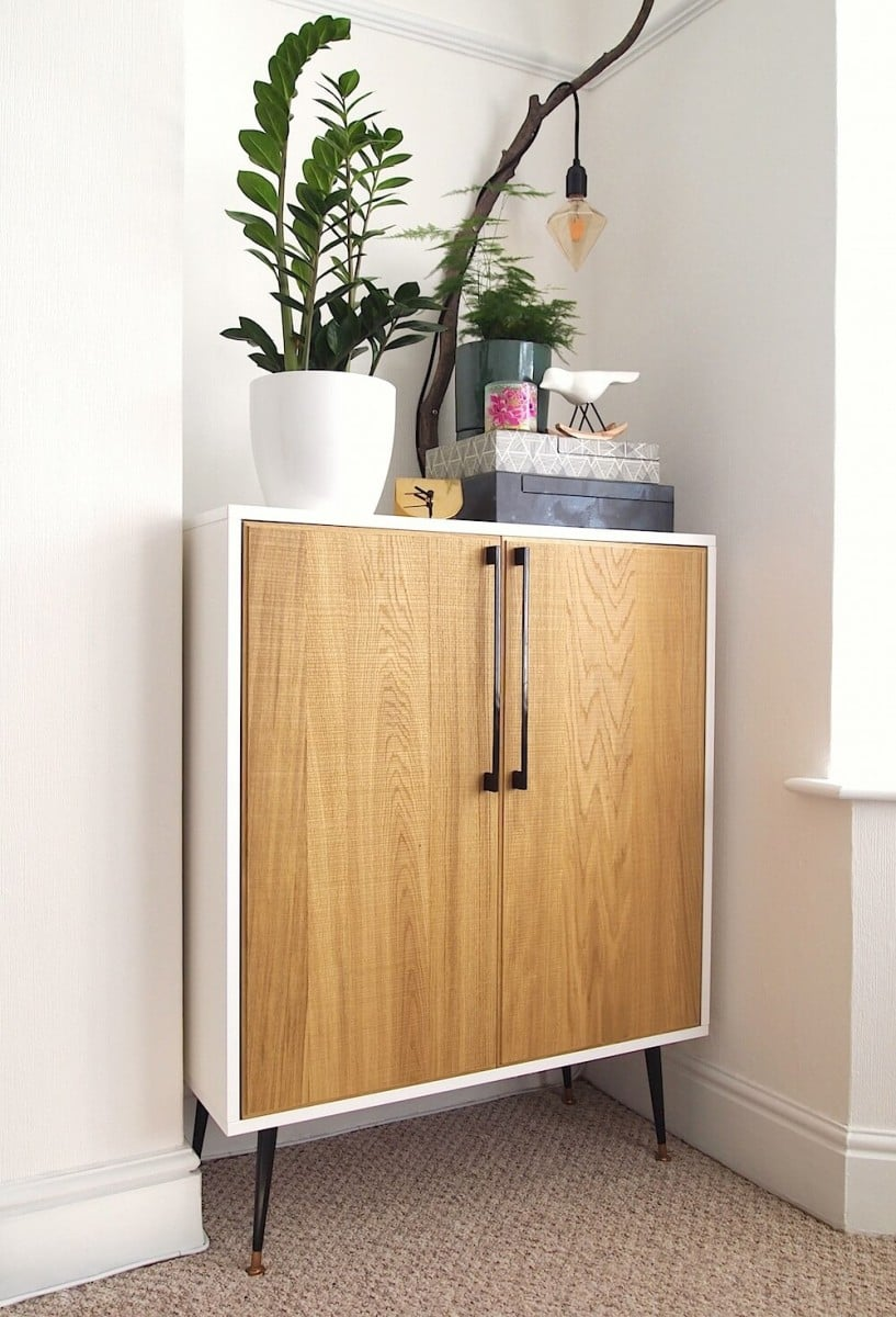 DIY cabinet mid century style from IKEAhackers book