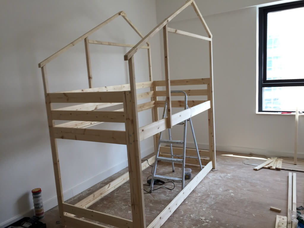 Awesome Make an Indoor Playhouse Bunk Bed IKEA MYDAL hack