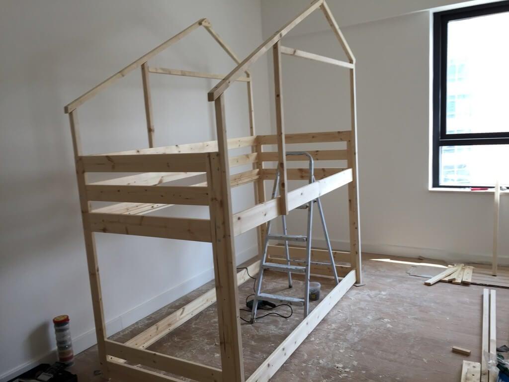 Make an Indoor Playhouse + Bunk Bed: IKEA MYDAL hack