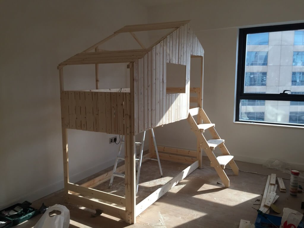 Amazing Make an Indoor Playhouse Bunk Bed IKEA MYDAL hack