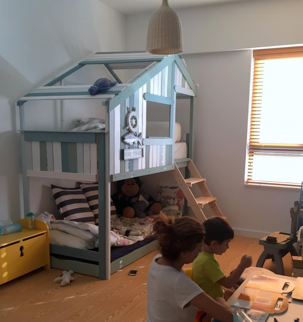 Trend Make an Indoor Playhouse Bunk Bed IKEA MYDAL hack