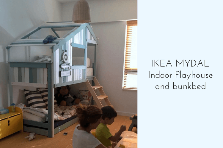 Make an Indoor Playhouse + Bunk Bed: IKEA MYDAL hack