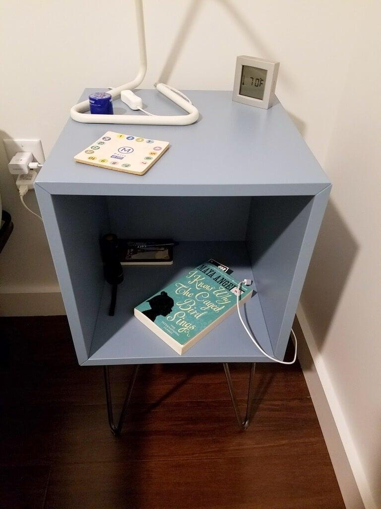 IKEA EKET Hairpin leg nightstand