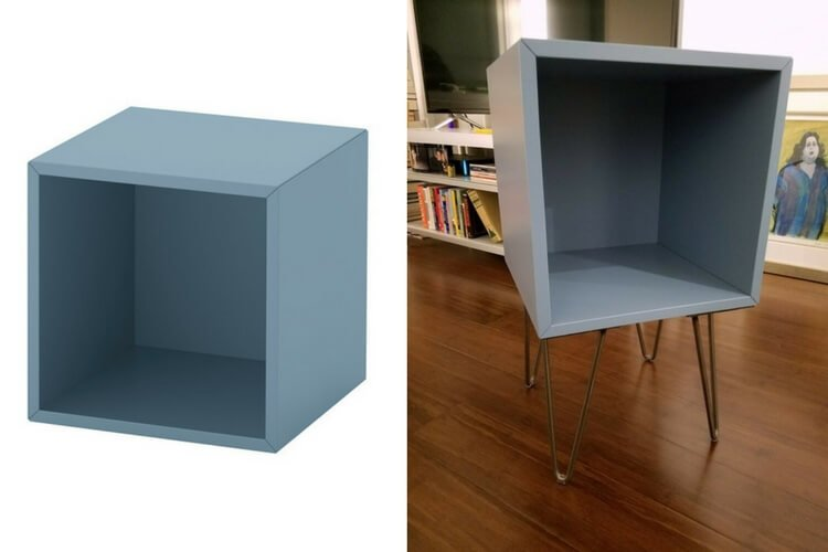 Turn The Eket Cube Into A Hairpin Leg Nightstand Ikea