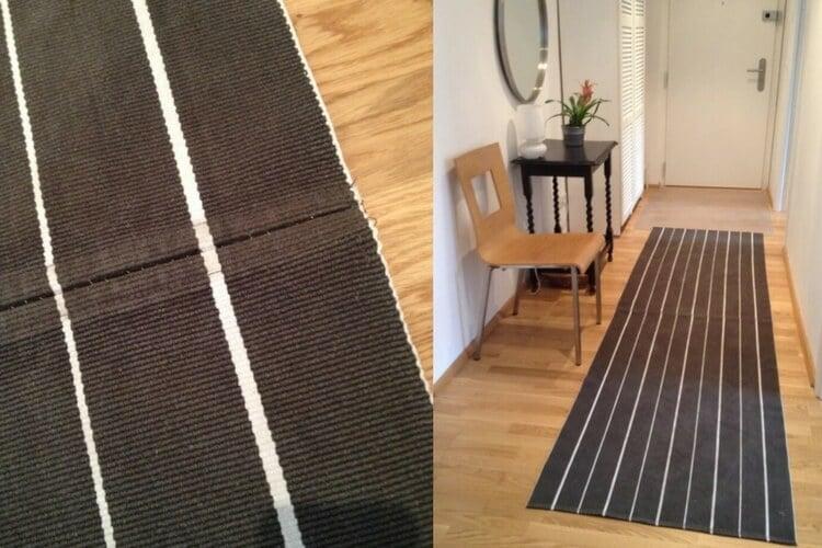 hallway runner rug DIY - IKEA Hackers