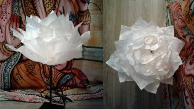 ikea-hack-paper-flower-decoration