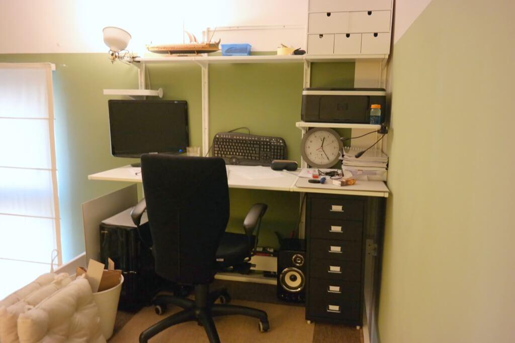 IKEA HACK loft office: STORÅ loft bed with desk