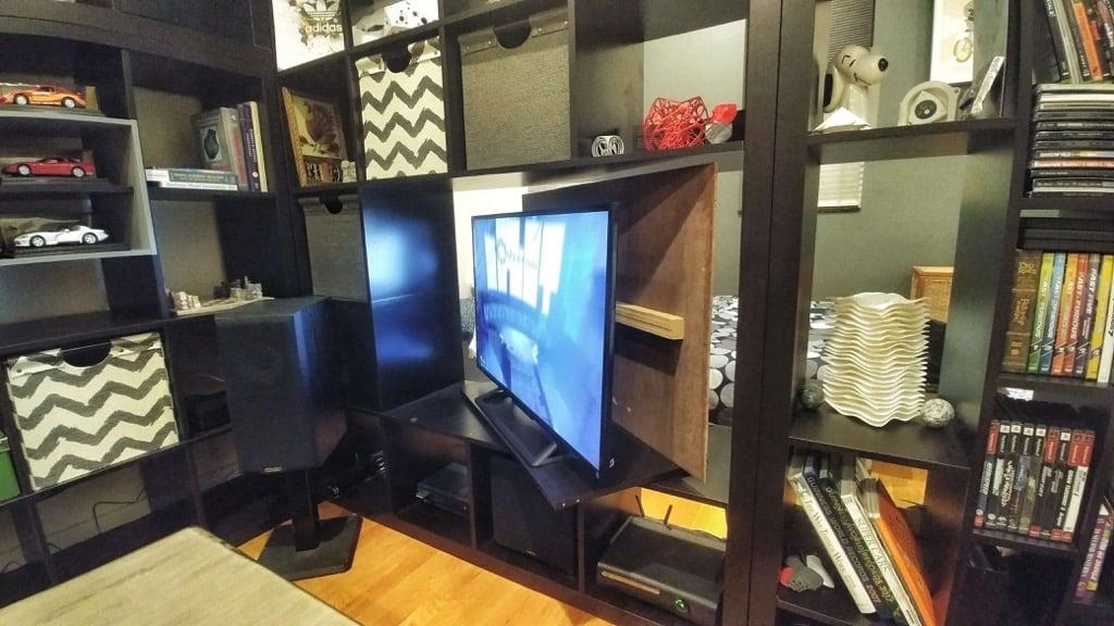 KALLAX Hide-away TV & Cascading Room Divider