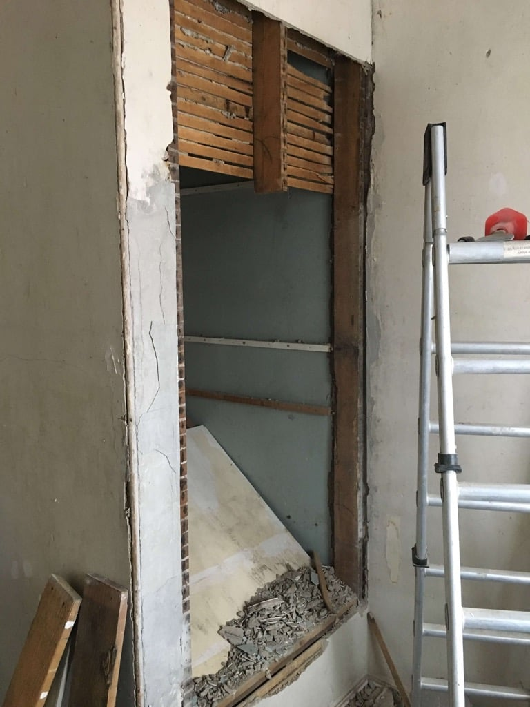 New opening for built-in closet