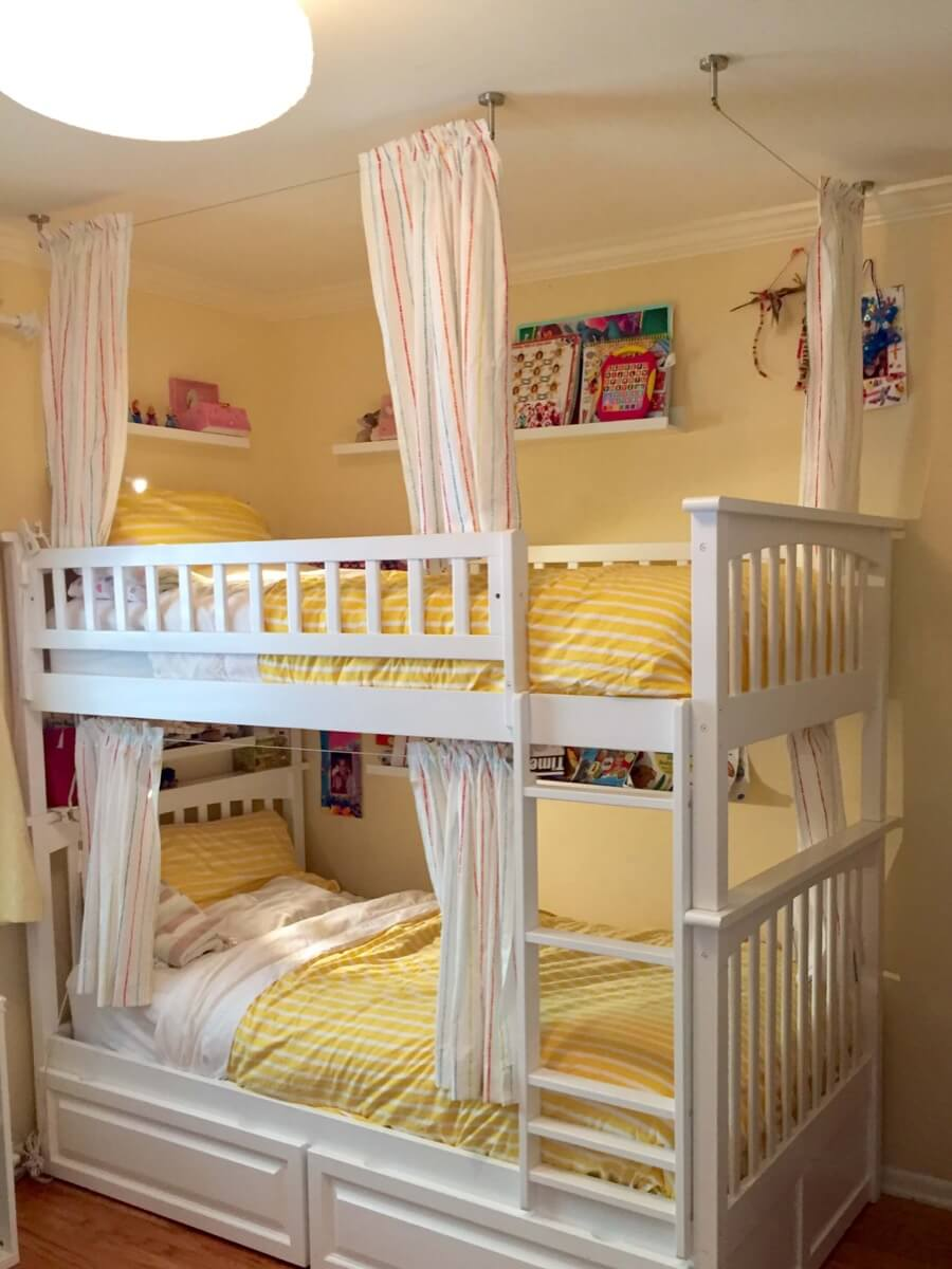 Picture of: Lightweight And Breathable Bunk Bed Curtains Ikea Hackers