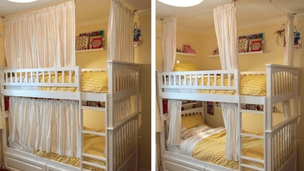 Cool Beds bunk bed curtains ikea hack