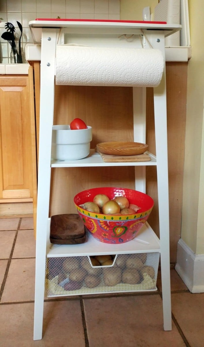 Quick, easy chopping station + kitchen island ideas