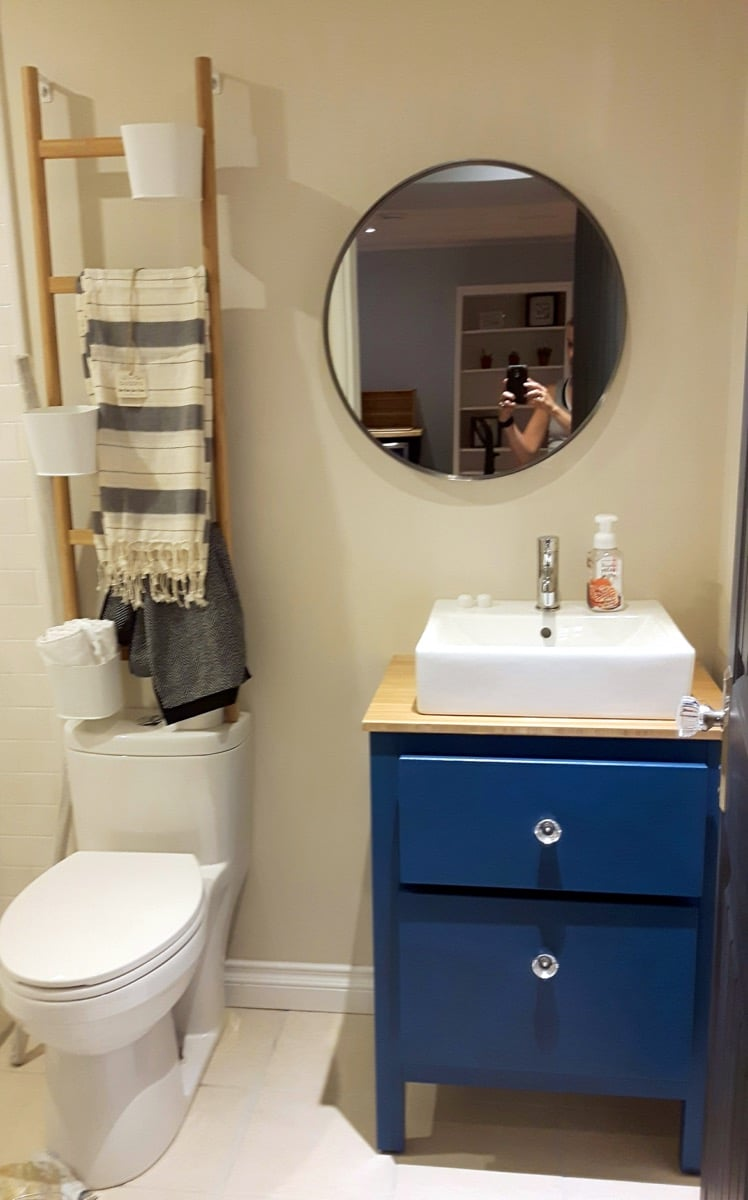My customized HEMNES small bathroom vanity - IKEA Hackers