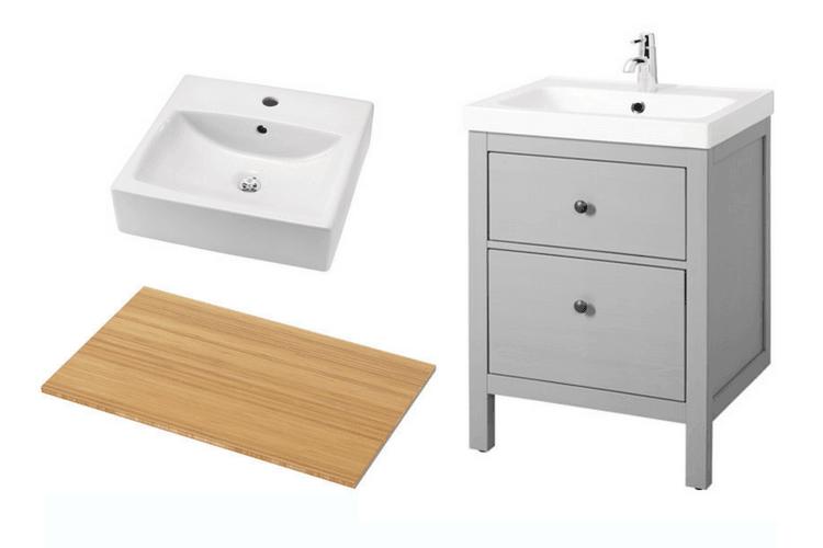 My Customized Hemnes Small Bathroom Vanity Ikea Hackers Ikea Hackers