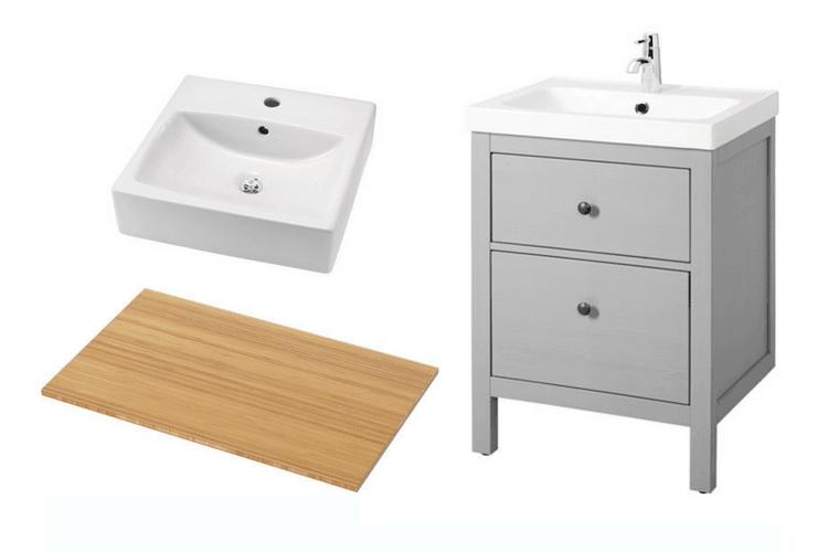 My customized HEMNES small bathroom vanity