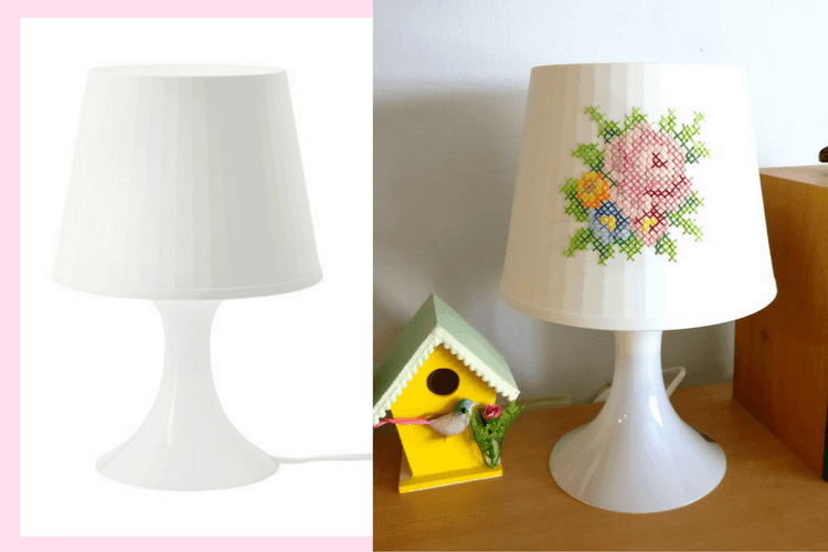 5mm Drill Bit >> Cross stitch table lamp: IKEA LAMPAN upgrade - IKEA Hackers