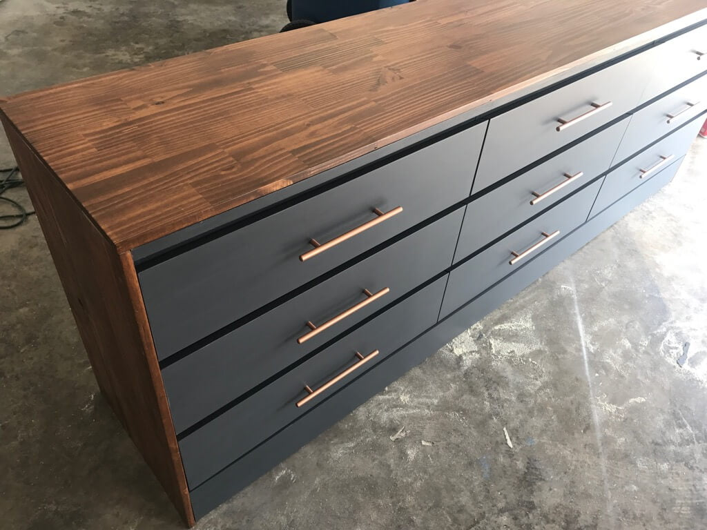 XL chest of drawers: One BIG MALM Dresser