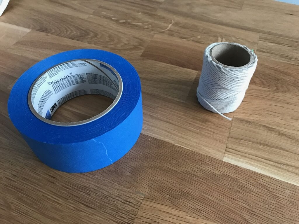 Painter's tape and twine